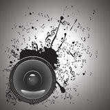 Music Poster with Audio Speaker Royalty Free Stock Photography