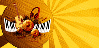Music poster background Stock Images