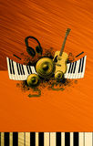 Music poster background Royalty Free Stock Photography