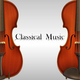 Music. Poster of Classical Music with two violins Royalty Free Stock Photos