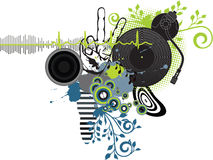 Music poster. DJ. Easy to edit/move.Vector Royalty Free Stock Photos