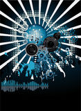 Music poster. DJ. Easy to edit/move.Vector Royalty Free Stock Images