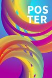 Music poster with gradient fluid royalty free stock images