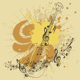 Music Poster with Guitar Royalty Free Stock Photos