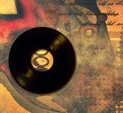 Music poster with old vinyl records Royalty Free Stock Photos