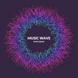 music poster Vector абстрактная предпосылка с покрашенные динамические волны бесплатная иллюстрация