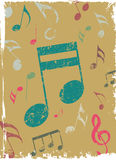 Music poster vector Royalty Free Stock Photos