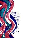 Music poster. Vector Illustration of an Abstract Background with Music Notes Stock Photography