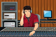 Music producer in studio Stock Photos