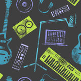 Music production pattern. Royalty Free Stock Photo