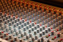 Music production Recording Studio. Audio mixing equipment Royalty Free Stock Image