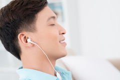 Music in profile Stock Photography