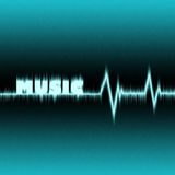 Music pulse. Abstract music pulse illustration Royalty Free Stock Photography