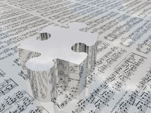 Music Puzzle Stock Images