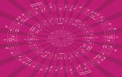 Music radial background - vector Stock Images
