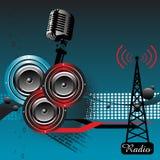 Music through radio Royalty Free Stock Photos