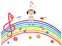 Music rainbow Royalty Free Stock Image