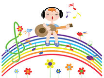 Music Rainbow Royalty Free Stock Photo