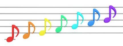 Music of rainbow Stock Photos