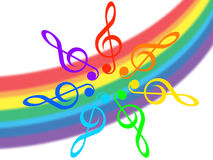 Music and rainbow Royalty Free Stock Images