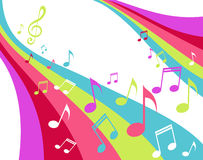Music rainbow. Ribbon with notes Stock Photography
