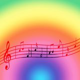 Music rainbow. Colored abstract background Stock Images