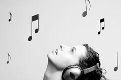 Music raining Royalty Free Stock Photos