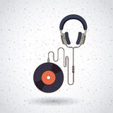 Music record design Royalty Free Stock Image