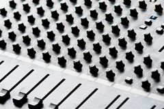 Music record studio mixing desk Royalty Free Stock Photo