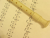 Music with recorder Stock Photography
