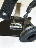 Music industry equipment. Used for playing recording and listening of music Stock Photos