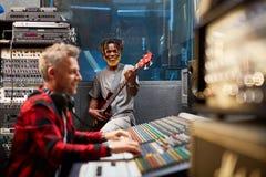 Music recording Stock Photo