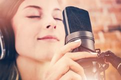 Music Recording with Passion Royalty Free Stock Photography