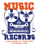 Music records Stock Image