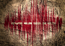 Music relative image with sound curve Royalty Free Stock Images