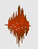 Music relative image. sound wave curve Royalty Free Stock Images
