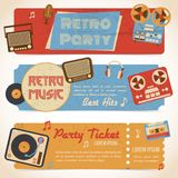 Music retro banners Stock Photo