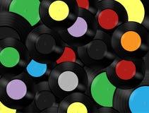 Music. Retro music media vinyl record royalty free illustration