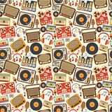 Music retro seamless pattern Royalty Free Stock Image