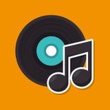 Music retro vinyl icon. Illustration design Royalty Free Stock Image