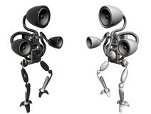 Music robots Royalty Free Stock Image