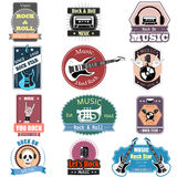 Music Rock and Roll label tag sticker for Advertisement Stock Image