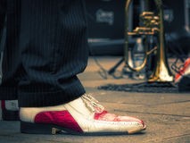 Music. Rockabilly shoes Royalty Free Stock Images