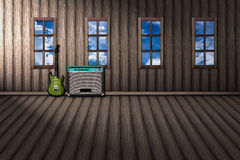 Music room outside natural visible the window. Royalty Free Stock Image
