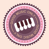Music round label Royalty Free Stock Photos