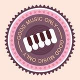 Music round label Royalty Free Stock Photos