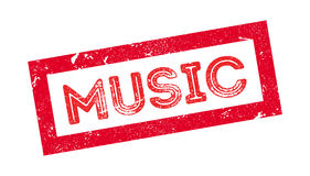 Music rubber stamp Royalty Free Stock Photo