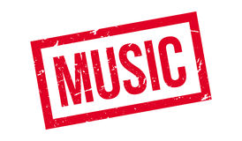 Music rubber stamp Royalty Free Stock Photos