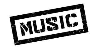 Music rubber stamp Royalty Free Stock Images