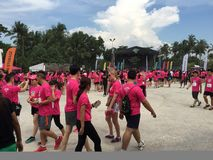 Music Run Singapore 2015 Royalty Free Stock Photography